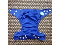 Charlie Banana One Size Cloth Nappy with 2 inserts | ROYAL BLUE | £20 | GREAT CONDITION | Rawmarsh
