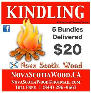 Dry  Kindling Bundles $20  DELIVERED     www.NovaScotiaWood.ca