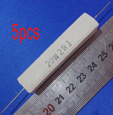 5pcs 2 Ohm 2r 20w -5 High Power Resistor Cement Resistance