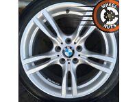 "18"" Genuine BMW 3 series M Sport alloys staggered perf cond Bridgestone tyres."