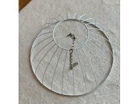 Very Large Dome Pendant Lampshade FRAME with Chain