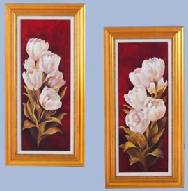 Handmade Oil Paintings 69 cm X 39 cm ( 2 pieces )