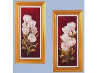 Handmade Oil Paintings 69 cm X 39 cm ( 2 pieces )
