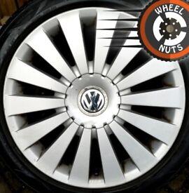 "17"" Genuine VW Passat Highline alloys excel cond excel tyres."