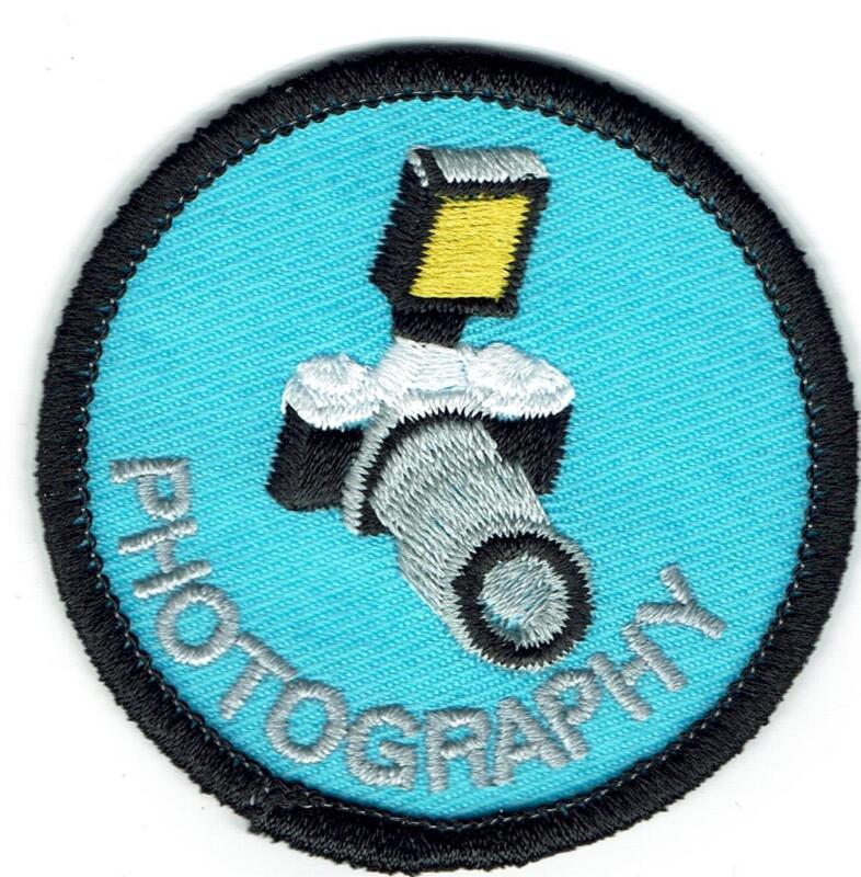 Girl Boy Cub Camera PHOTOGRAPHY Class Fun Patches Crest Badge SCOUT GUIDE photos