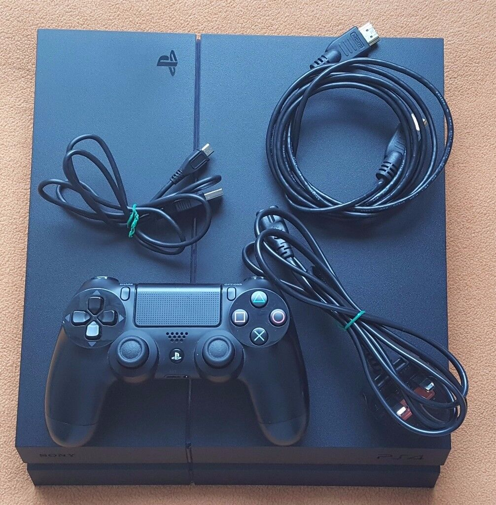 PS4 Sony Playstation 4 Mat Black 500GB Excellent Condition With ...