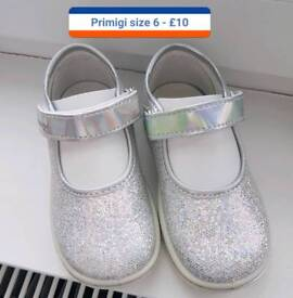 Selection of girls infant shoes