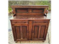 Carved vintage sideboard for up cycle
