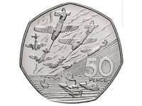 D-Day Landings 50pence. Circulated .