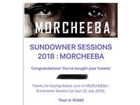 Two Tickets to Morcheeba Lusty Glaze Newquay - Sunday 22nd
