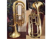 Elkhart 100EH 3 Valve Euphonium by Vincent Bach with stylish backpack & mouthpie