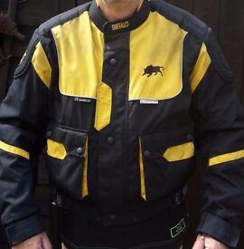 Men's Buffalo Motor Cycle / Motor Bike Textile Jacket ~ Size large