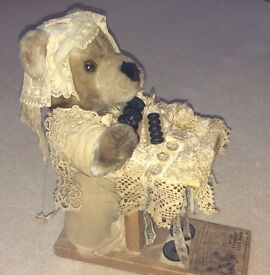 Antique Teddy - with Sewing/Stand