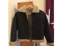 sheep shearling jacket 12Y