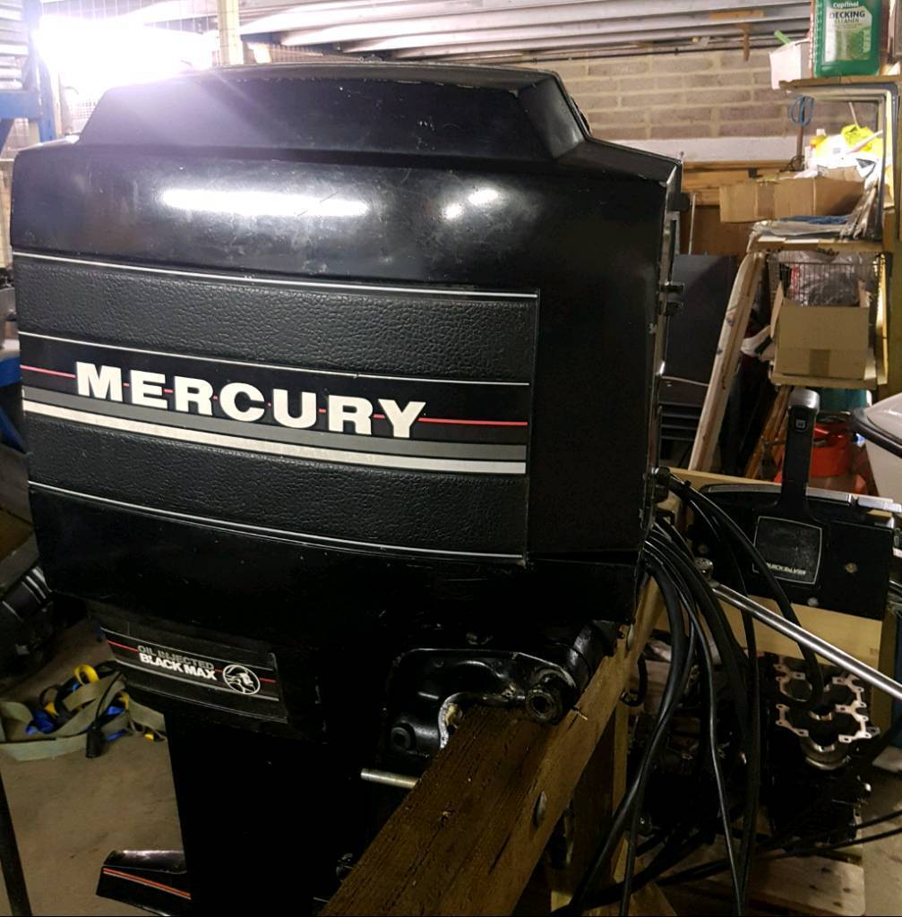 Mercury 150hp outboard boat moter power trim 2 stroke oil injected   in  Wells, Somerset   Gumtree