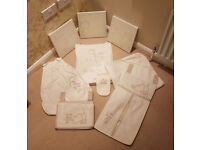 Nursery Set. Curtains. Lamp shade. Pictures. Nappy holder. sleep suit bag. Duvet