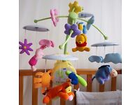 TOMY Winnie the Pooh Light-Up Cot Mobile