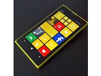 NOKIA LUMIA 1020 64GB YELLOW,41MP,UNLOCKED TO 02/TESCO AND GIFFGAFF,MINT CONDITION,WITH CHARGER