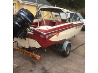 Glaston speed boat with mercury and Yamaha engine