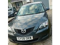 Mazda 3 Hatchback, Grey, 2008, MOT to June 2019