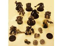 Warhammer 40k- Space Marine Terminator Squad (x 9 Plastic + x2 Metal)