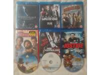 9 BLU-RAY & DVD MOVIES FILMS GANGSTER SQUAD UNBREAKABLE ZOMBIELAND PIRATES CHARLIE CHOCOLATE FACTORY