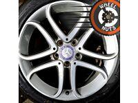 "17"" Genuine Mercedes A Class alloys Golf Caddy Leon good cond good tyres."