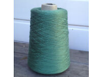 Green Cone of Machine or Hand Knitting Yarn