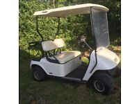 Ez-Go Electric Golf/Garden/Farm Yard Buggy. White. Excellent battery power + charger.