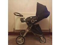 Stokke Xplory Dark Navy Standard Single Seat baby pram/Stroller/pushchair