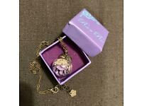 Lilac rose in a dome necklace