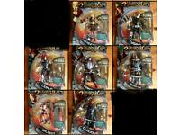 Thundercats figures x7 all New factory sealed discontinued collectible set Free DVD Thunder cats toy