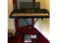 Yamaha Portable Electronic Keyboard PSR-630 with Stand and Foot Pedal