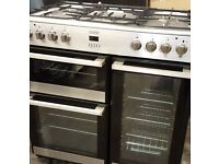 90cm Range Cooker. Dual Fuel Electric Ovens and LPG Gas Hob