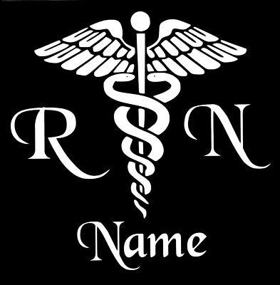 - Personalized Caduceus Snake Medical Emblem Vinyl Decal Sticker RN Nurse Yeti Cup