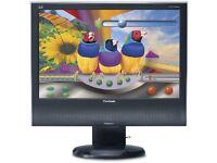 ViewSonic 19INCH WXGA+ 1440 x 900 D-Sub, DVI-D Built-in Speakers LCD Monitor
