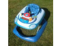 Chicco Blue Baby Car Walker - Excellent Condition