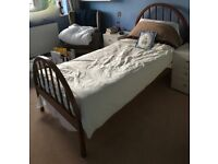 3 ft Single Wooden Bed Frame with Orthosoft Foam Mattress. For Adults / Children.