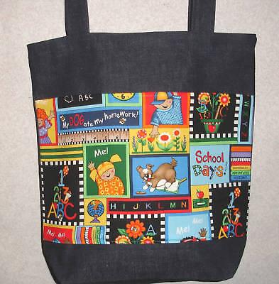 NEW Handmade Large Teacher School Classroom Tote Bag Gift