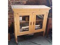 Lovely Pine Cabinet; ideal for a kitchen.