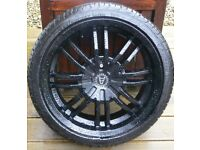 "17"" Wolfrace Spyder Alloys plus tyres"