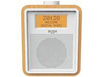 Bush Wooden DAB Radio Alarm Clock