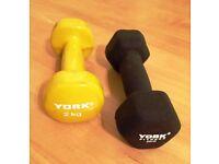 """2kg weights """"York"""""""