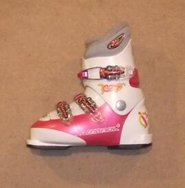 S/H Rossignol Comp J 3 Junior Ski Boots Size 21 UK 1.5