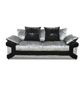 Velvet crushed sofa