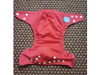 Charlie Banana One Size Cloth Nappy with 2 inserts | RED | £20 | GREAT CONDITION | Rawmarsh