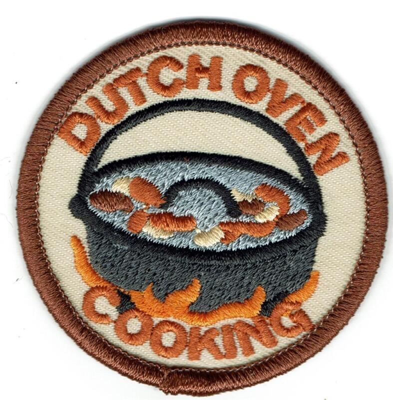 Girl Boy DUTCH OVEN COOKING Campfire Fun Patches Crests Badges SCOUT GUIDE Cub