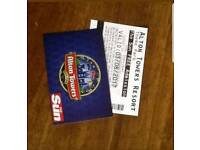 2 x Alton towers tickets Thursday 3rd August