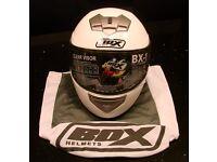 new helmet in dust cover unused in box