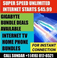 ROGERS INTERNET Low price &  Fixed price  $44.95  | TV & PHONE